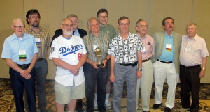Winners of the Bob Davids Award in attendance at SABR 41